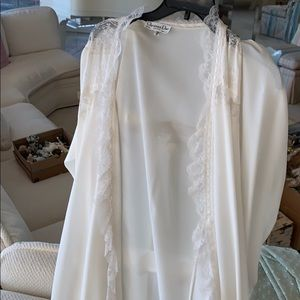 Christian Dior Lingerie lace robe.